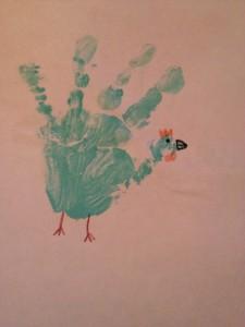Maryjane's hand print