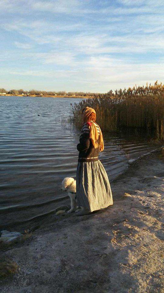 A Girl and herFarmdog