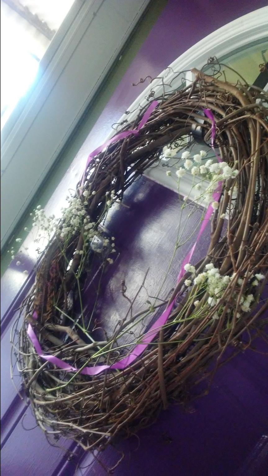 Simply Crafting a SpringWreath