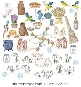 set-colorful-spring-doodles-beginning-260nw-1279672129